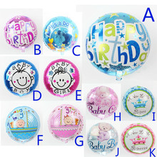 ФОТО mixed models 18inch round baby balloon 1piece helium globos for baby birthday party supplies foil ballon baby shower decoration