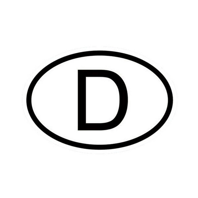1510cm d germany country code oval car stickers decals motorcycle car styling black