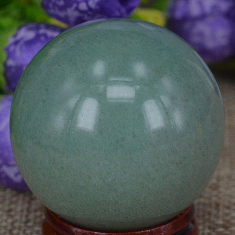 1pc Green Aventurine Jade Quartz Crystal Sphere Ball Stand Healing Decoration