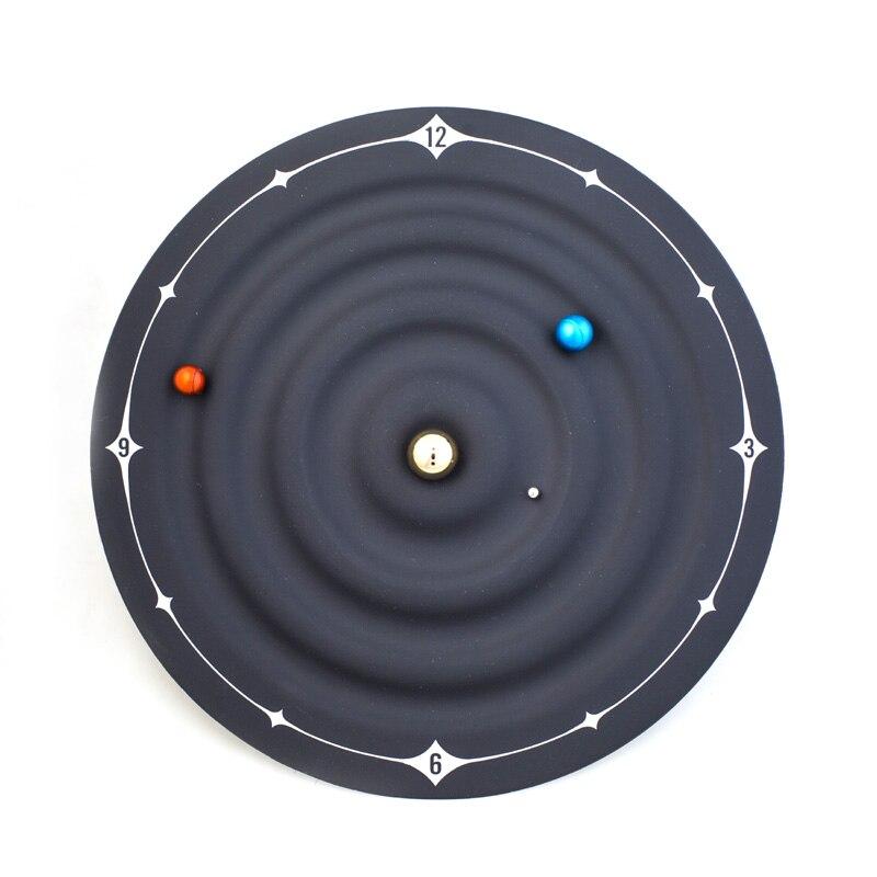 New Concept Solar System Planetary Magnetic Clock Creative Bedroom Art Clock Mars Venus Earth Series Clock
