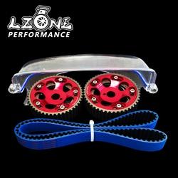 Lzone-Hnbr Racing Distributieriem + Aluminium Cam Gear + Cam Cover Voor 2JZ-GTE Supra, GS300, IS300 JR-TB1006B + 6531R + 6332