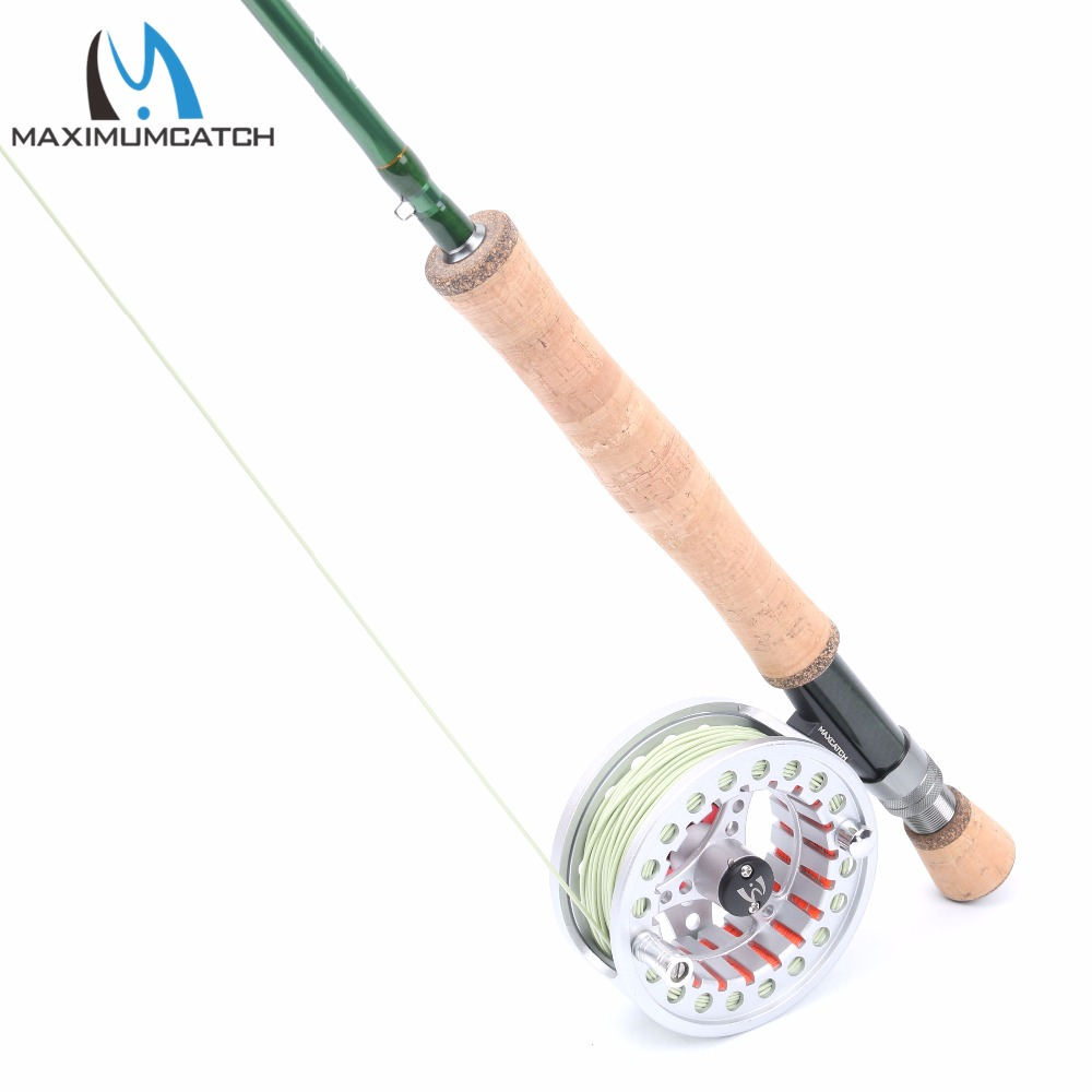 5wt fly rod and reel combo 9ft fly fishing rod pre for Trout fishing rod and reel