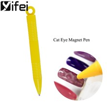 Yifei Kuku Magnet Pen 3D Magnetic Mata Kucing Dotting Pena Kuku Seni Alat Manikur DIY Alat Cat Eye Magnet(China)