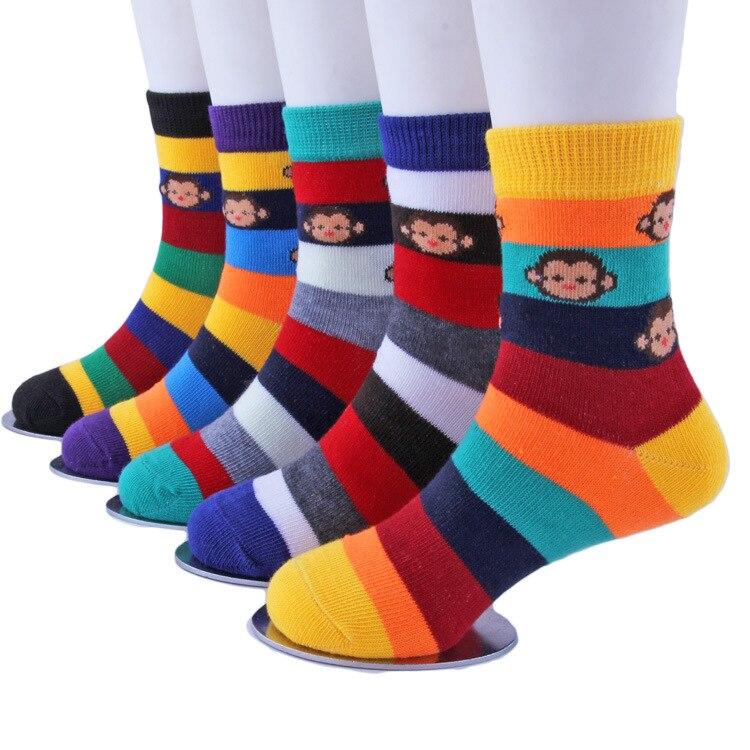Childrens Unisex Striped Socks