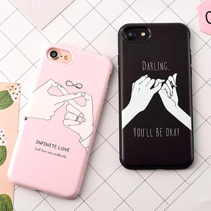 Moda letra divertida para iphone 7 para iphone7 7 plus 6 6 S de la Contraportada