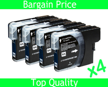 4 x Black Ink Cartridge for Brother LC980 LC1100 LC38 LC67 LC61 DCP-145C DCP-165C DCP-185C DCP-385C DCP-535CN
