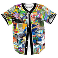 90 s Nostalgia Jersey hombres Ropa camisa overshirt camisa sudor 3d Hip Hop con botones camisa camisas Casuales