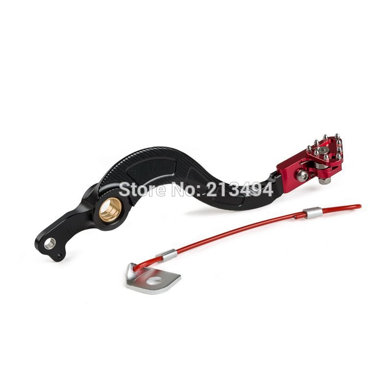 New Motorctycle Aluminum For 2010-2016 Honda CRF250R CRF 250R CNC Rear Brake Pedal Lever, Anodized Red Tip for honda crf 250r 450r 2004 2006 crf 250x 450x 2004 2015 red motorcycle dirt bike off road cnc pivot brake clutch lever