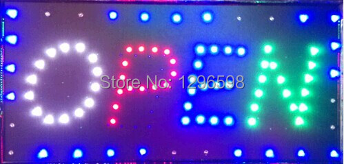 2017 direct selling custom graphics led sign 10X19 Inch indoor Ultra Bright flashing store open signage