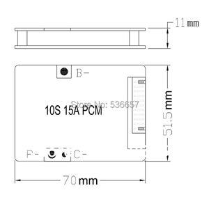 Image 4 - 3.6V 3.7V bateria litowa 10S 36V 37V BMS PCM używana do 36V 8Ah 10Ah 12Ah i 15Ah akumulator litowo jonowy z funkcją równowagi