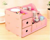 YIHONG Wooden Jewelry Storage boxs Makeup Organizer Storage Box Student Pen case Storage Box Household Objects