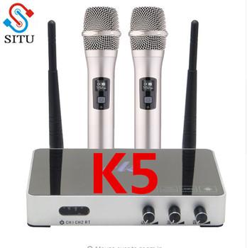 Ręczny bezprzewodowy mikrofon do Karaoke odtwarzacz Karaoke domu Karaoke mikser systemu dźwięk cyfrowy mikser Audio śpiew maszyna do K5 tanie i dobre opinie situ