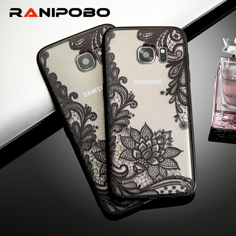 Hot Sexy S6 Edge Lace Retro Vintage Floral Flower Printed