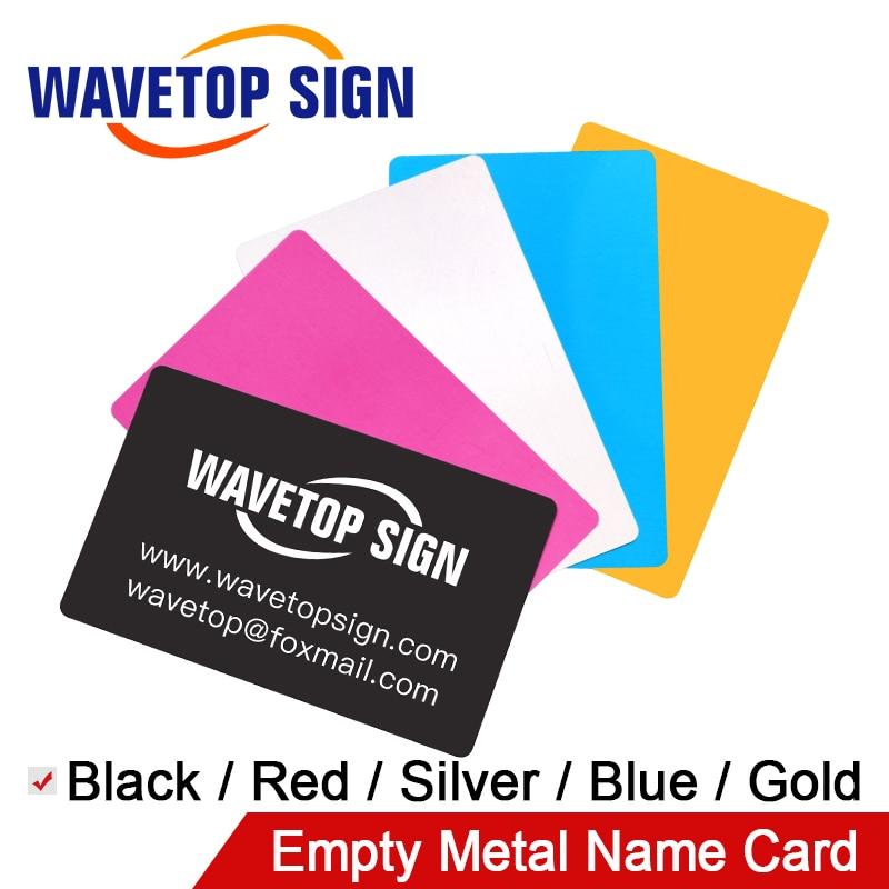 WaveTopSign 100PCS/LOT Business Name Cards Multicolor Aluminium Alloy Metal Sheet Testing Material For Laser Marking Machine