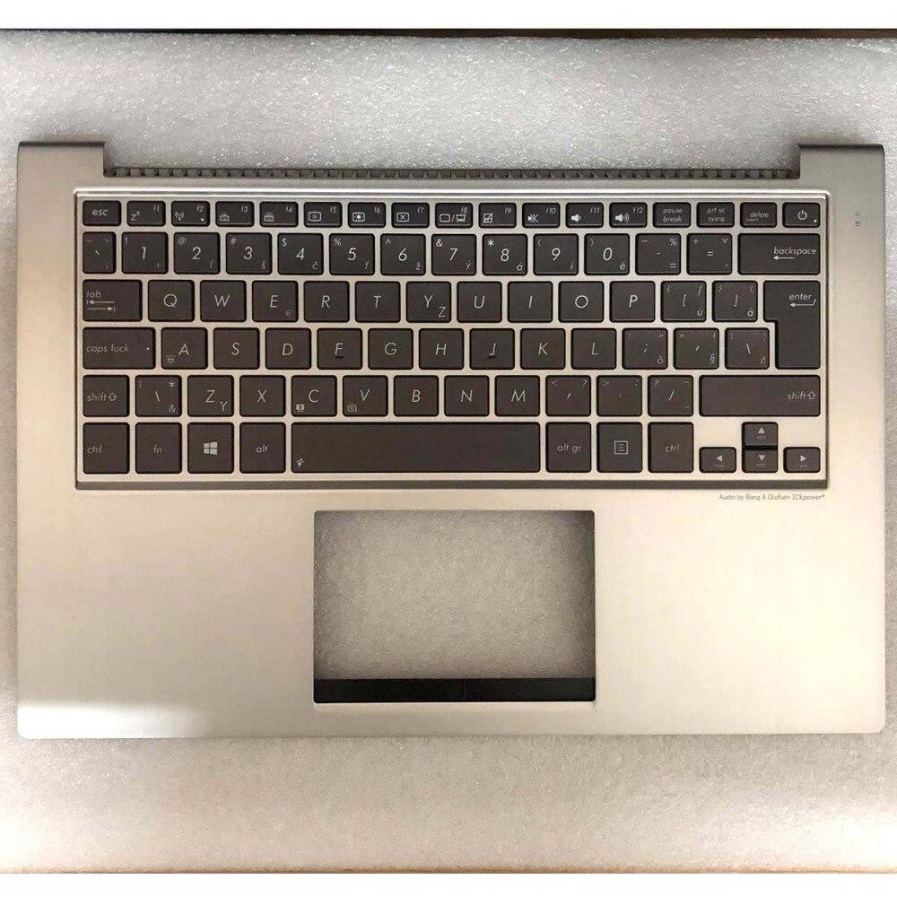 Nouvelle lunette de clavier rétro-éclairé pour ordinateur portable d'origine reste Paml pour ASUS UX32 UX32A UX32E UX32V UX32VD UX32 Top case avec clavier