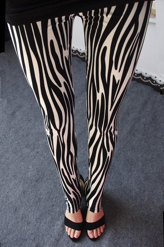 BIVIGAOS Spring Summer Womens Fashion Black Milk Thin Stretch leggings Colored Stars Graffiti Slim Skinny Leggings Pants Female 13