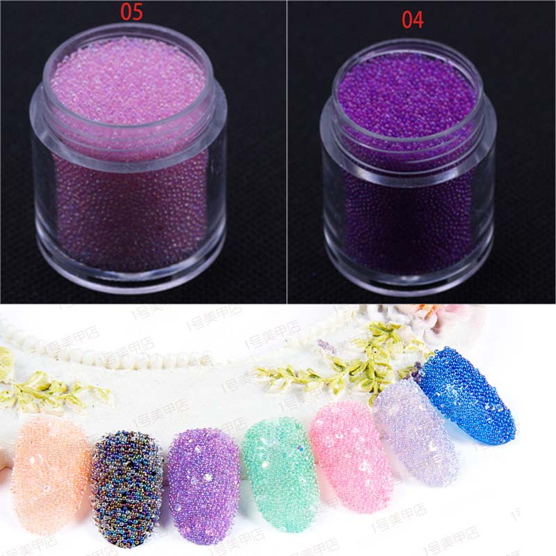 AB Mixed Caviar Glitter Beads Nail Decoration Micro Pearl Ball Holo Colorful Rhinestone Manicure 3D Nail Art Decorations Mini hot 4mm metal edge 3d white half round glitter pearl nail decoration studs beads diy nail rhinestone tools