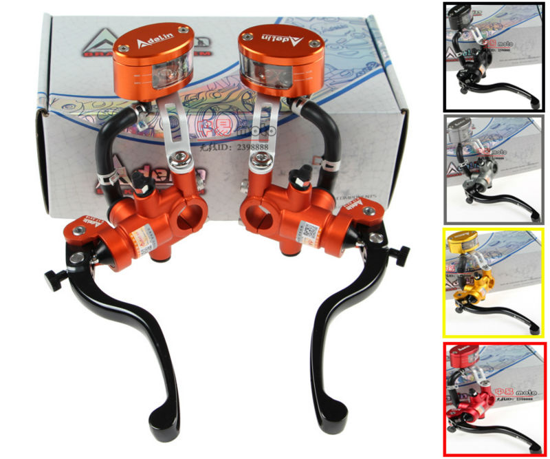 Adelin Radial Master Cylinder Lever Motorcycle Hydraulic clutch Brake Pump Racing motobike Universal For Yamaha Kawasaki