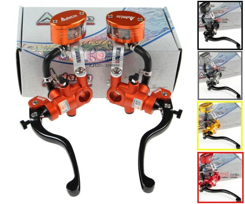 купить Adelin Radial Master Cylinder Lever Motorcycle Hydraulic clutch Brake Pump Racing motobike Universal For Yamaha Kawasaki Suzuki по цене 3062.87 рублей