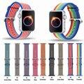 Mais novo tecido de nylon watch band para apple watch strap 42mm 38mm pulseira de pulso