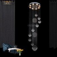 Gorgeous Large Crystal Chandelier Light Fixture Rain Meteoric Shower Stair Bar Droplight Chandelier Lighting For Hotel Lobby