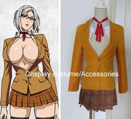 Anime Kangoku Gakuen Prison School shiraki meiko Cosplay Costume Customized gakuen polizi vol 1