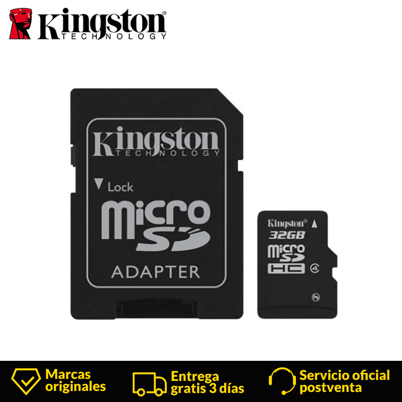Kingston Technology Class 4 Micro SD Card 32GB MicroSDHC Memory Card  With SD Adapter UHS-I TF Card Read Card 80MB/s For Phone