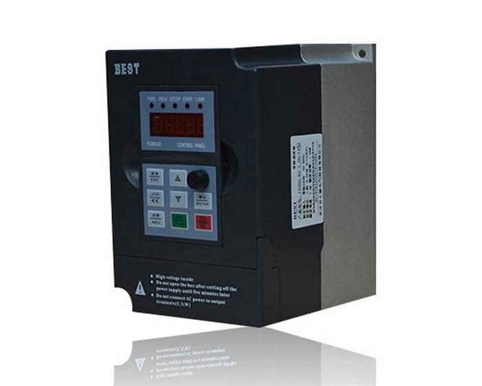 BEST 2.2kw 3HP 1000HZ VFD Inverter Frequency converter 3phase 380v input 3phase 0-380v output 5.5A for Engraving spindle motor