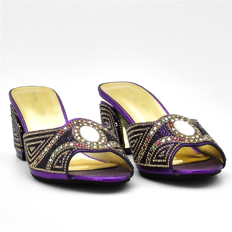 Negro Mujeres Bolsa fuchsia oro Nigeriano 2018 purple Set Y Con Rhinestone Boda De Africano rojo Decorado Conjunto yellow Bolsas Zapatos xqw6FzYa