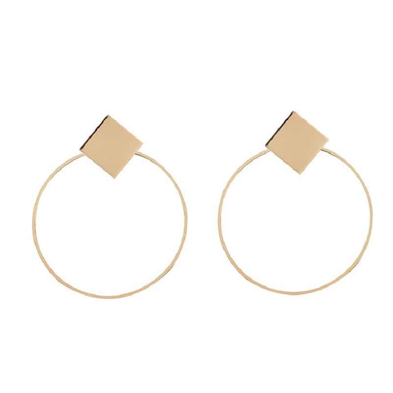 Меня Найти 2019 новые модные Винтаж сплава серьги для Для женщин ювелирные изделия boho выдалбливают Большого Круга Висячие серьги оптовая продажа