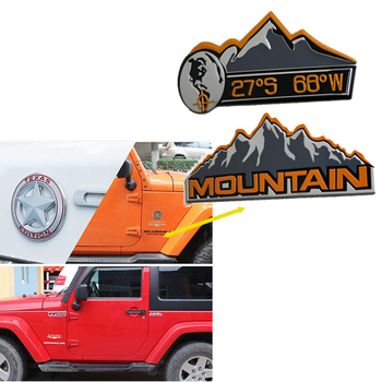4X4 Snow Mountain Racing Car Sticker Emblem Badge For Bmw E46 E90 E60 E39 E36 F30 Lada Granta Chevrolet Cruze Lacetti Lexus image