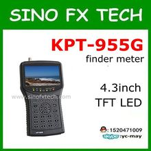digital sat finder KPT-955G 4.3Inch TFT LED Handheld Multifunction monitor support ABS-S DVB-S2 S for CCTV Camera