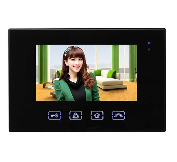 2016 New Arrival Touch key 7inch wired video door phone, HD waterproof camera, night vision 1 camer+1 monitor