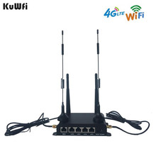 KuWFi OpenWRT 300Mbps Industrial CarWiFi Wireless Router 4G LTE Wifi Router Extender Strong Signal Suport 28users