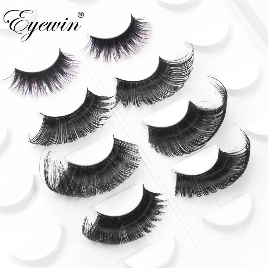 Eyewin False Eyelashes For Drag Queen Exaggerating Dramatic Lash Maquiagem Makeup Full Strip Eyelash Crossing 3D Mink Eyelashes