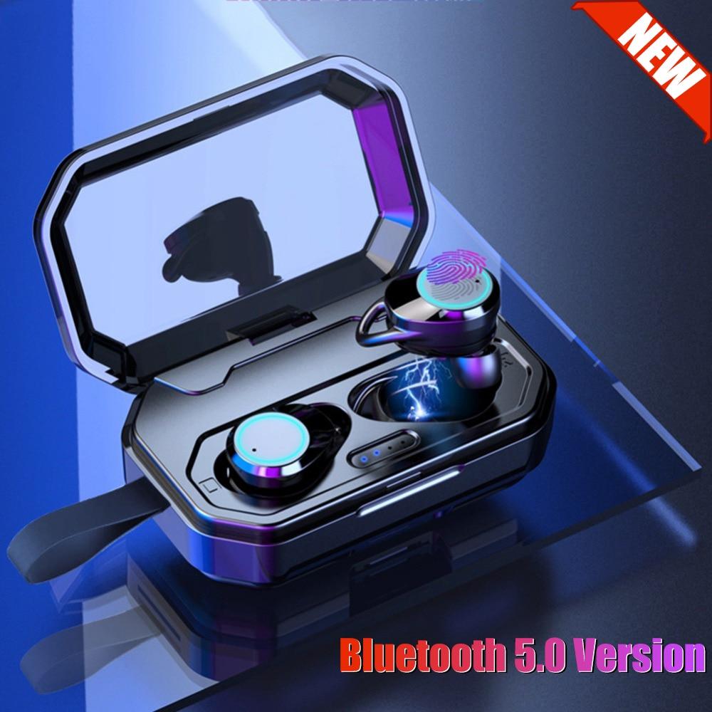 3000 mAh grande batterie Bluetooth écouteur V5.0 contrôle tactile véritable sans fil écouteurs étanche auriculares téléphone Bluetooth casque