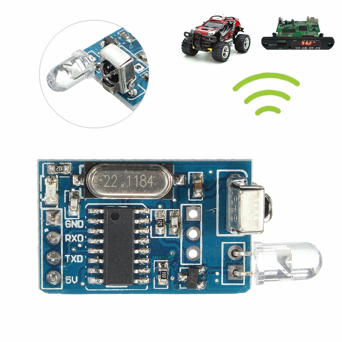 Dc 5v Standard Qi Wireless Charger Pcba Circuit Board Coil Diy Aliexpresscom Buy With Leory Ir Infrared Remote Decoder Encoding Transmitter Receiver Module Integrated Circuits Modules Boards