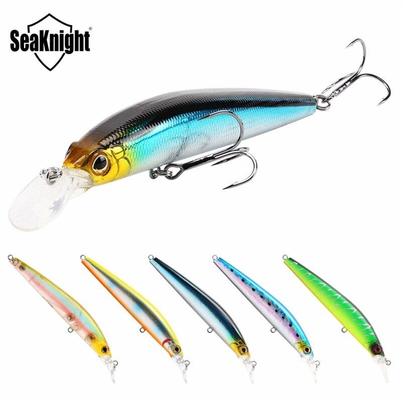 SeaKnight SK023 1PC 22.5g 125mm Fishing Lure Minnow 0-1.5M Floating Lure Big Long Minnow 3D Eyes Simulation Carp Fishing Lure