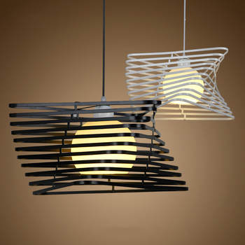 Creative Nordic Modern  Pendant Lights. Simple and Beautiful iron bar table Office balcony Hotel suspension lamp art decoration