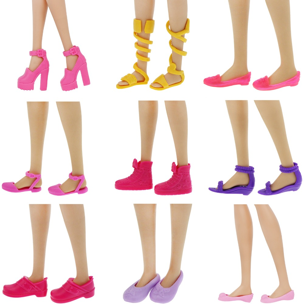 High Quality Colorful Shoes High Heels Mixed Style Sandals Casual Wear Dress Up Clothes For Barbie Doll Accessories Gift Toy