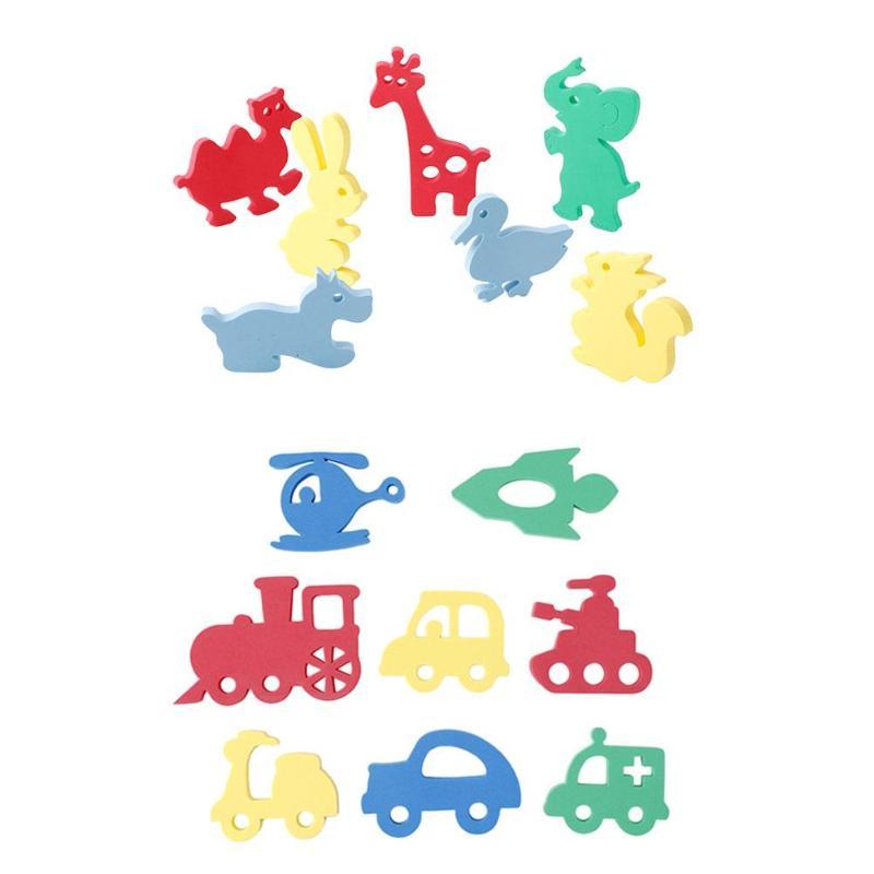 Soft EVA Kids Float Bathing Toys Baby Bath Puzzles Foam Floating Toy Infant Early Educational Toys Animal Shape Water Play Toys