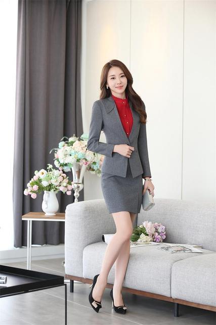 O terno novo terno elegante terno de três-terno peça saia vestido shirtdo457