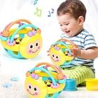 <+>  Резиновый мультфильм Bee Hand Knocking Rattle Гантель Детские ранние развивающие игрушки Детские дош ✔