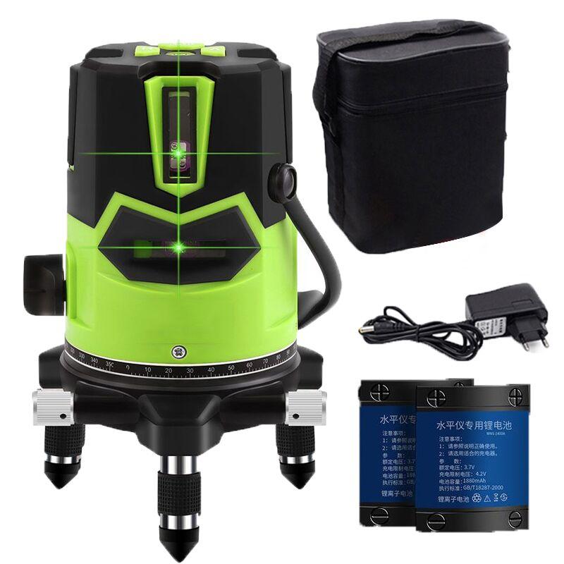 Bateria 2 5 3D Nivel a Laser Nível Laser linha Verde 360 Rotativo Autonivelante poziomica laserowa lazer livella nível a laser graus nivel a laser 360 graus nível a laser cruz verde 360 graus