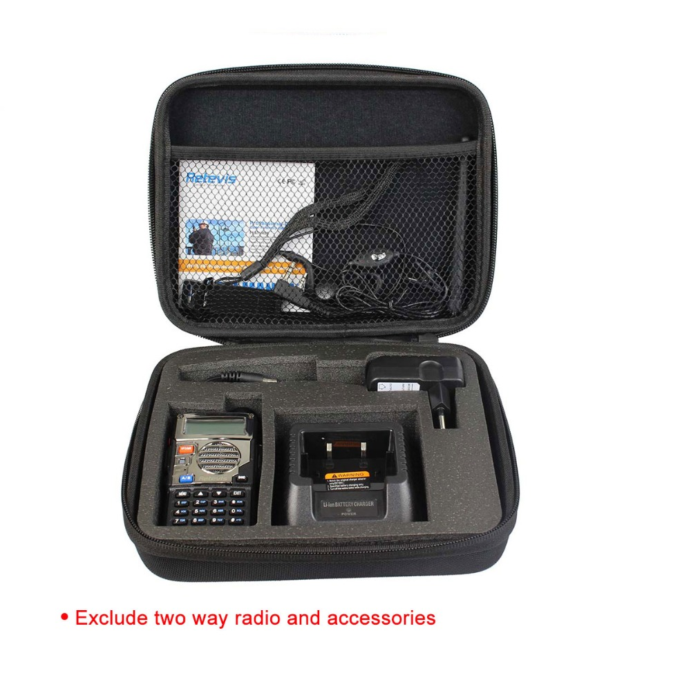 Tailored Storage Box/Bag Carrying Case For Retevis 5R/5RV Baofeng UV-5R TYT TH-F8 Ham Radio Walkie Talkie J7105N