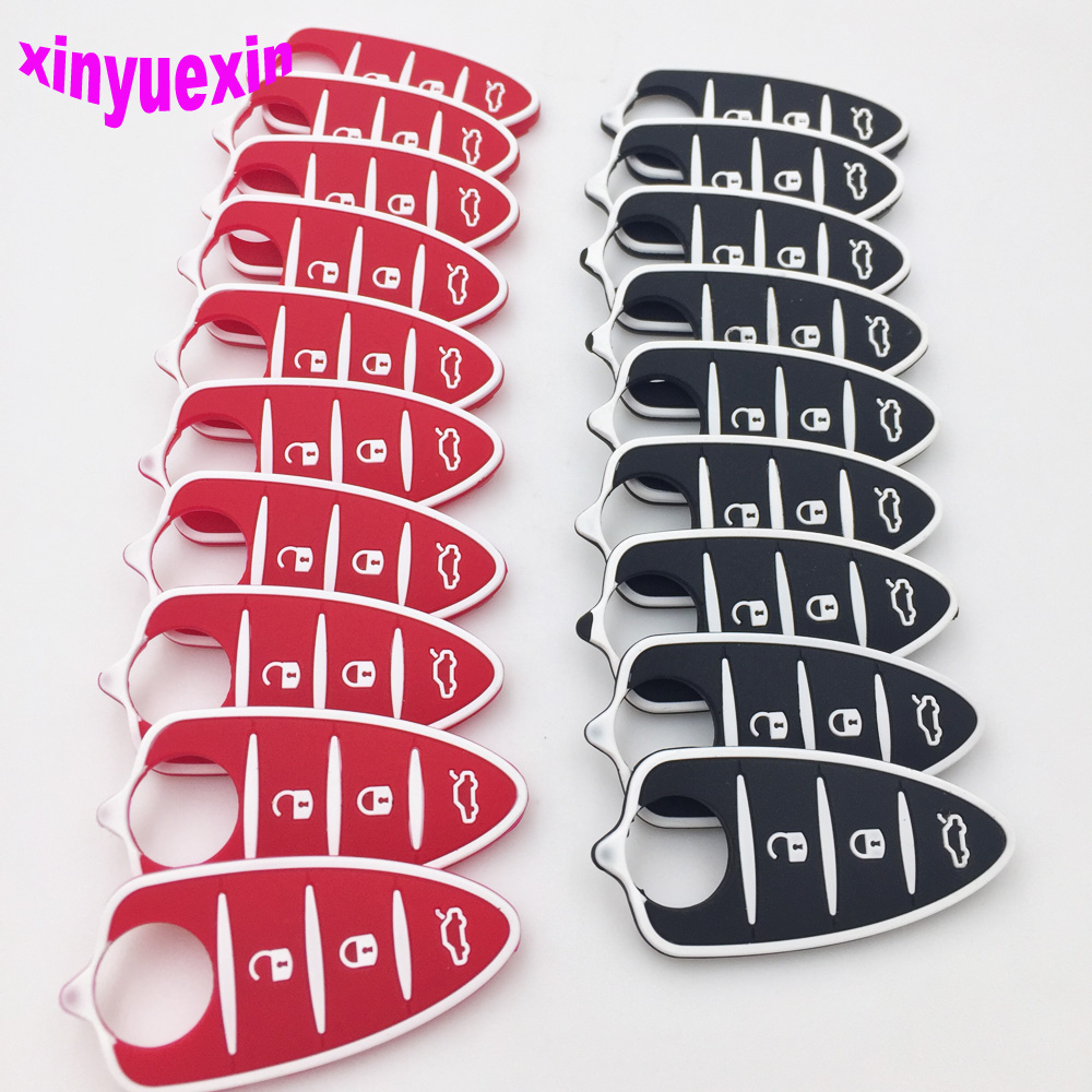 Xinyuexin Silicone Car Key Pad For Alfa Romeo 4C Mito Giulietta Myth 159 GTO GTA Flip Remote Car Key