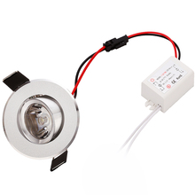 30 units 1W 3W high power Recessed Led Downlight Cabinet Light  AC85v- 260v 110-240LM with LED Driver by DHL FEDEX