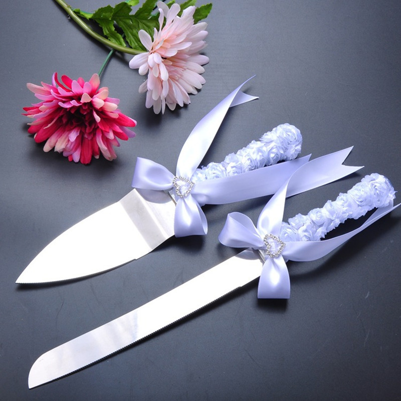 Aliexpresscom Buy Wedding Cake Serving Set White Flower Design