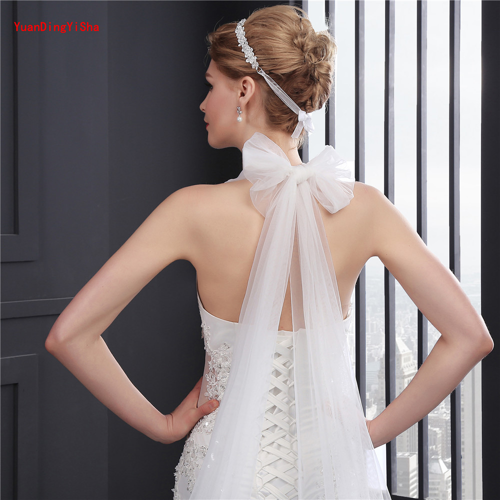 Licou perlée robe De mariée sirène 2017 photos réelles dentelle robe De mariée licou Tulle robe De mariée robe De mariée Vestido De Noiva - 6