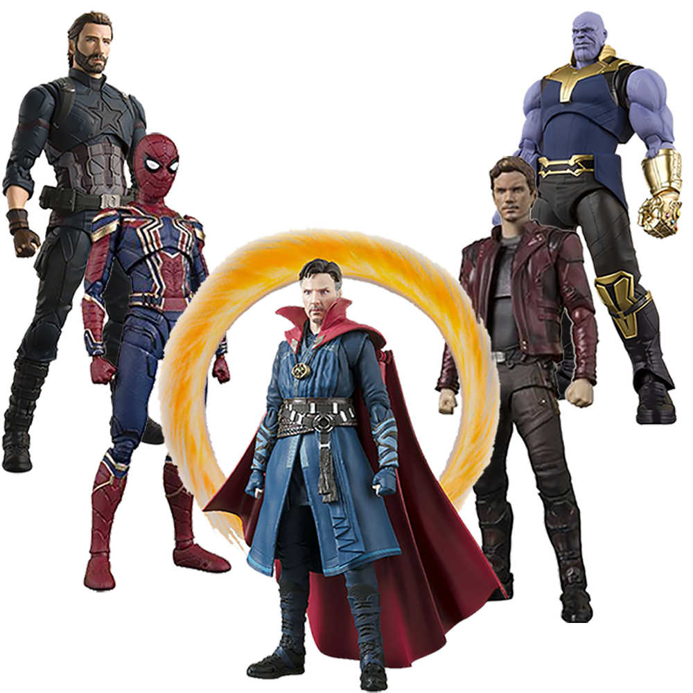 Avengers Infinity Guerra Thanos Dottor Strange Iron Man SpiderMan star Carico Action Figure Toy Regalo